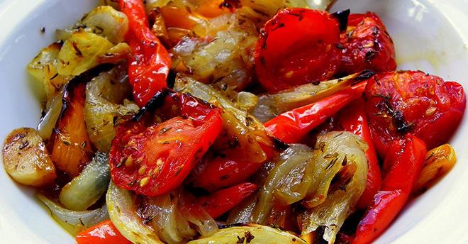 Запеченные овощи в маринаде: бомбически вкусно